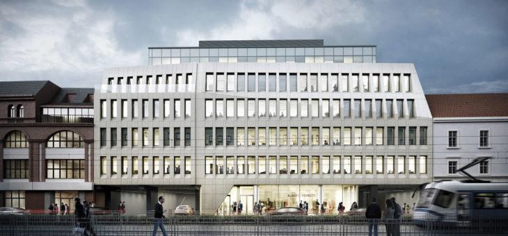 Opierzenia na budynku TIMES Wrocław