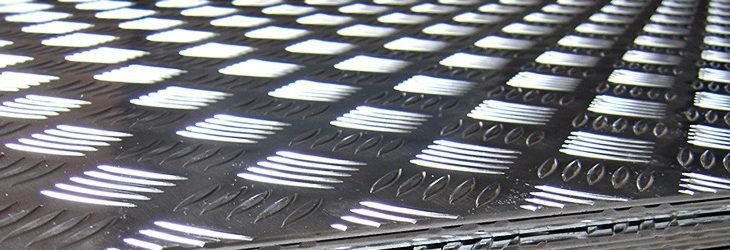 Progi i stopnie z blachy ryflowanej aluminiowej